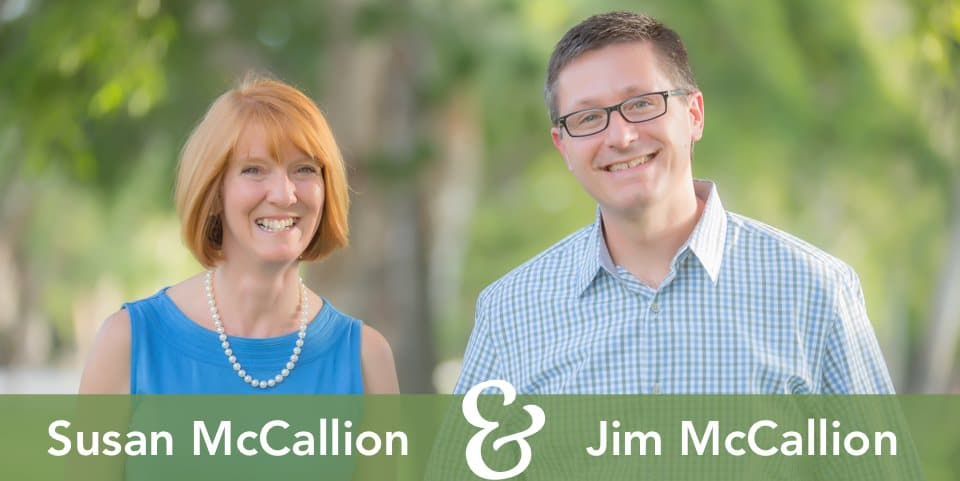 Susan and Jim McCallion with names
